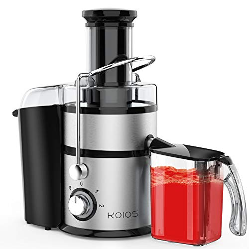 Cold Press Juice Extractor, Centrifugal Juicer Machine 1200W with 3-inch Wide Mouth, 1000ML Juicer Cup and 2200ML Pulp Bin, for Fruits and Veggies, Super Easy to Use, Easy to Clean and Dishwasher Safe