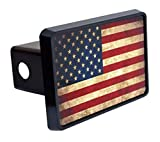 American Flag Trailer Hitch Cover,2 inch Receiver Tube Hitch Plug