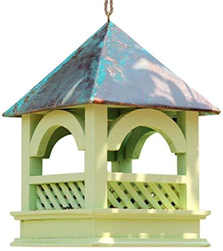 Bird Feeder Traditionelle Holzwetter Land House Design Einfache Reinigung Refills Große Premier Bird Feeder Bird Table Freistehendes hängende Dekoration for Außenterrasse ccgdgft