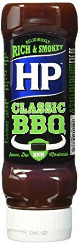 HP BBQ Sauce Classic, Kopfsteher-Squeezeflasche, 4er Pack (4 x 400 ml)