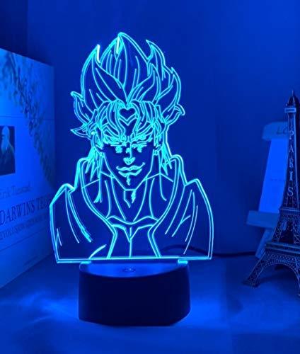 Lámpara de noche 3D con ilusión de acrílico, lámpara de noche anime, yoyó, bizarre, aventura para dormitorio, decoración, sensor táctil, multicolor, tabla LED, luz nocturna DIO, figura MAOJIE