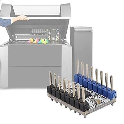 Pangding 5Pcs TMC2208 V1.2 Stepstick Stepper Motor Driver Module Carrier 3D Printer Accessories with Heat Sink Screwdriver