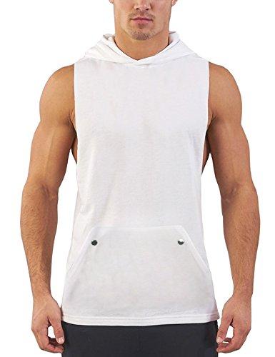 Daupanzees Mens Workout Hooded Tank Tops Sleeveless Gym...