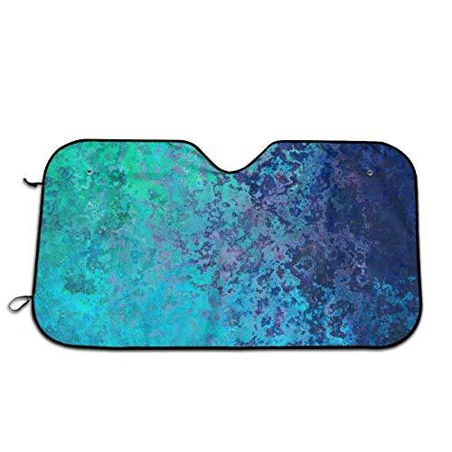 UQ Galaxy Cubierta De Parabrisas,Pintura Manchas Texturas Ventana Sombrilla, Impresión Colorida Protector del Vehículo Reflectores Solares para El Automóvil Vehículo,76x140cm
