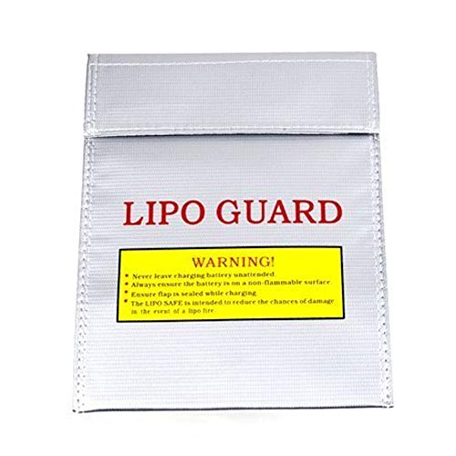 LiPo Akku Safety Guard Sleeve LiPo feuersicheren Tresor Sleeve-Faser-Material Tasche für Charge & Lagerung - Silber