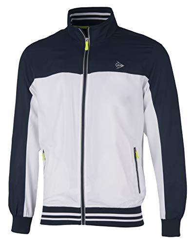 Dunlop Herren Club Line Men Tracksuit-Jacket, weiß/Navy, L