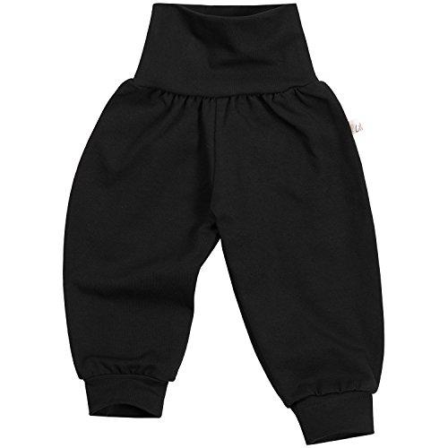 """Lilakind"""" Baby Kinder Mädchen Jungen Pumphose Hose Babyhose Jersey Uni einfarbig Basic schwarz Gr. 98/104- Made in Germany"""