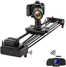 """GVM Video Slider,Wireless Carbon Fiber Motor Camera Slider with Bluetooth Remote & Mobile App Control,31""""/80cm Electronic Camera Slider Auto Loop Track System Shooting Equipped"""
