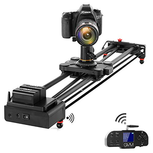 "GVM Video Slider,Wireless Carbon Fiber Motor Camera Slider with Bluetooth Remote & Mobile App Control,31""/80cm Electronic Camera Slider Auto Loop Track System Shooting Equipped"
