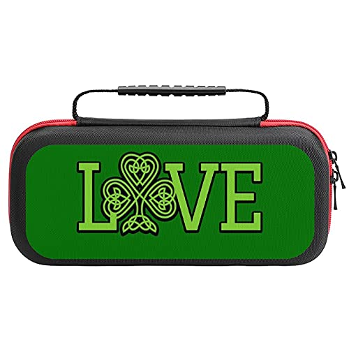 Love Celtic Knot Case for Nintendo Switch Lite, Hard Carry Case with 20 Game Cartridges, Protective Case for Nintendo Switch Lite Console & Accessories