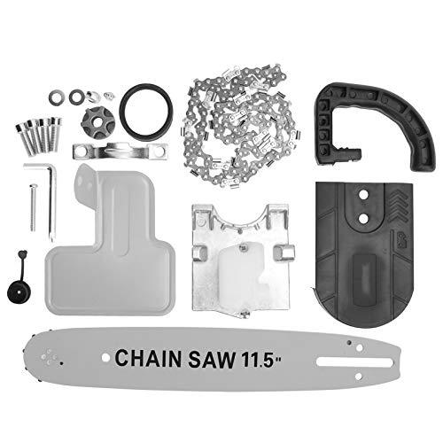 """Soporte de motosierra eléctrica de 11,5"""", soporte convertidor de bricolaje, soporte adaptador de sierra de cadena, accesorios de sierra de cadena para herramientas de carpintería"""
