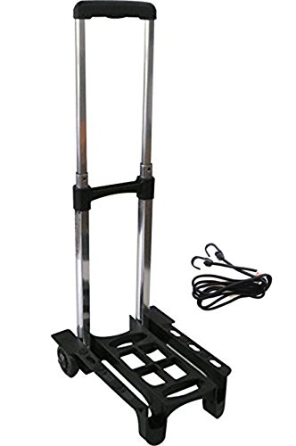 Vita 超軽量 1kg 耐荷重 30kg 折りたたみ ミニ 自立 2輪 キャリーカート (ゴムベルト 付き)