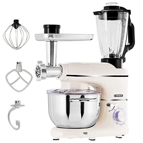 Arebos Küchenmaschine 1500W Creme |...