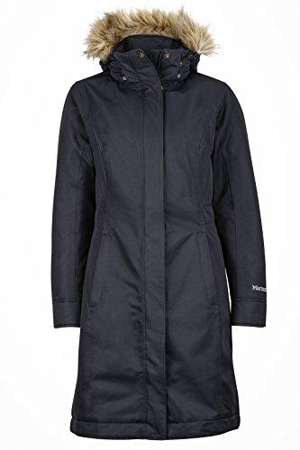 Marmot Women Wm's Chelsea Coat Leichte Daunenjacke, 700 Fill-Power, Warmer Parka, Wintermantel, wasserabweisend, Winddicht, Black, XL