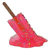 Dolity 溶けたアイスクリームの装飾品、溶けるポプシクルの彫刻、夏のクールな装飾ギフトのための創造的な溶けるアイスクリーム樹脂の彫像の飾り - 赤