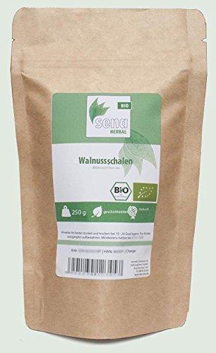 SENA-Herbal Bio - geschnittene Walnussschalen- (250g)