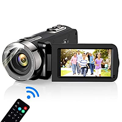 Video Camera Camcorder, wechi Full HD 1080P 30FPS 24MP Digital Camera Vlogging Recorder for YouTube 3.0 Inch Touch LCD Display 16X Digital Zoom Camcorders for Indoor/Outdoor with Remote Control by wechi