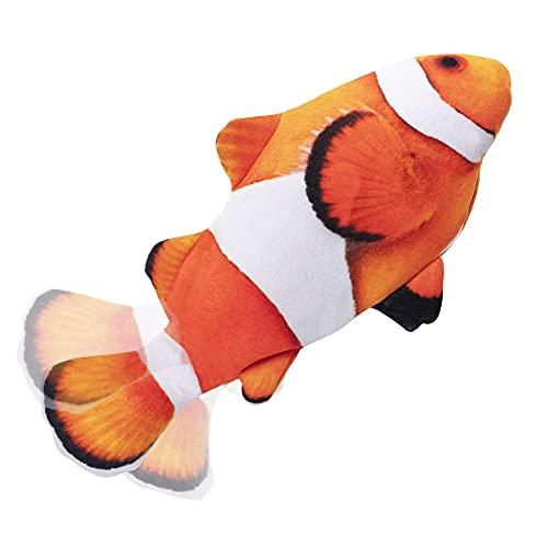 Pesce Giocattolo Gioco per Gatto - Giochi Interattivo per Gatti, Giochi Gatto Pesce Che si Muove, Pesci Giocattolo Elettrici con Erba Gatta , Simulazione Realistica di Morbido Pesce Oscillante B