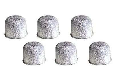 6 Replacement Charcoal Water Filters for Farberware 5-Cup Programmable Coffee Maker Part 103743-F By NISPIRA