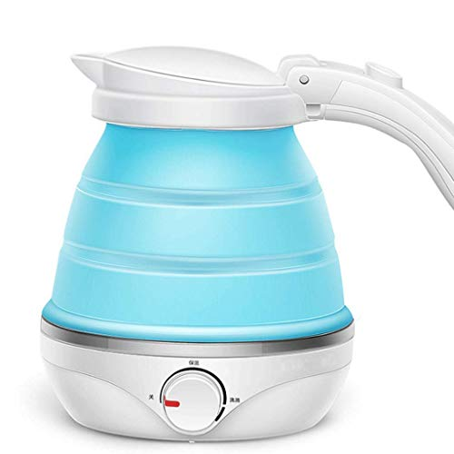 ZYYH Electric Kettle Fold Mini Silica gel Travel Small Capacity Portable Household Kettle 110V-220V 0.5L(Blue )