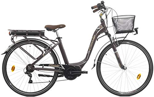 28 Zoll Damen Elektro Fahrrad Cinzia Sfera Mittelmotor, Farbe:braun