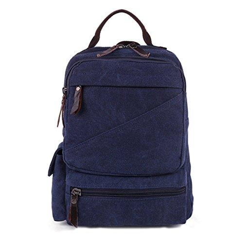 Sincere® la mode Fashion Backpack / Zipper Sacs à dos / Rue / Multifonction / Sac à dos / École de sac en toile / sac d'ordinateur casual / extérieur bleu Voyage sac à dos-Marine