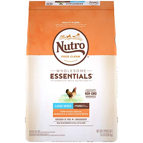 DISCONTINUED BY MANUFACTURER: NUTRO WHOLESOME ESSENTIALS Adult Large Breed Natural Dry Dog Food Farm-Raised Chicken, Brown Rice & Sweet Potato Recipe, 15 lb. Bag