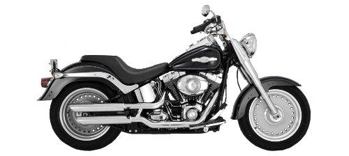 Vance & Hines Zapatillas cromadas Twin Slash de 3 pulgadas para modelos Harley Davidson 2007-2013 Fatboy Softail
