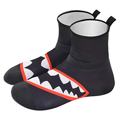 Rnwen Diving Socks Beach Shoes Men and Women Diving Socks Swimming Non-Slip Anti-Cut Barefoot High-top Shoes Water Booties & Socks (Color : B, Size : 44/45)