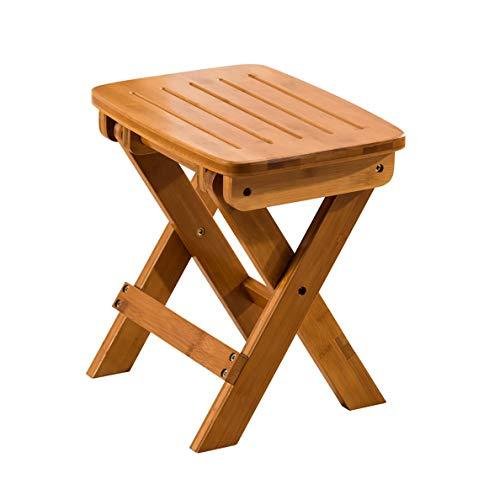 FH Tabouret Pliant, Tabouret en Bois Massif, Chaise Pliante De Maison, Chaise Longue De Jardin, 2 Tailles (Taille : 33 × 25 × 35cm)