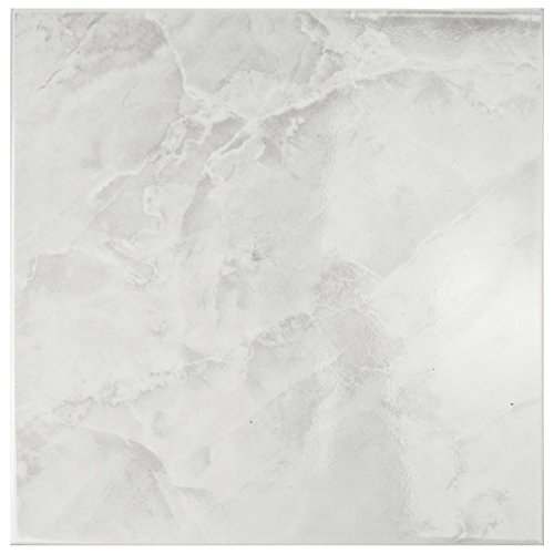 """SomerTile FTC12GWH Sigma Ceramic Floor and Wall Tile, 11.75"""" x 11.75"""", White"""