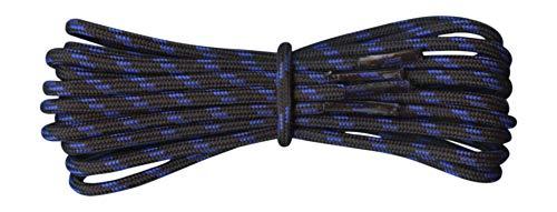 Schnursenkel fur Wanderschuhe und Turnschuhe - Schwarz und blau - Lange 110cm