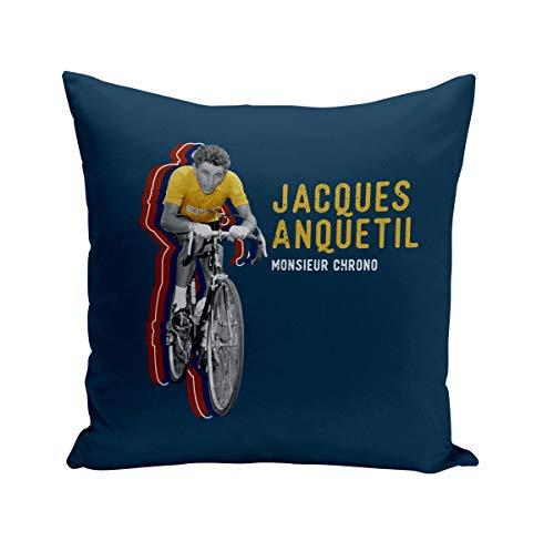 Fabulous Coussin 40x40 cm Jacques Anquetil Vintage Vélo France Cyclisme Tour