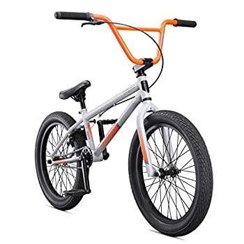 Mongoose Legion L20 Freestyle BMX Bike Line for Beginner-Level to Advanced Riders Steel Frame 20-Inch Wheels Grey/Orange