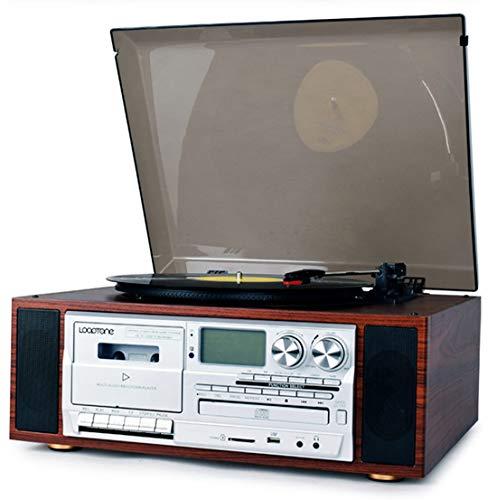 Registro De Bluetooth Vintage Vinyl Jugador, 3 Velocidad De La Placa Giratoria,...