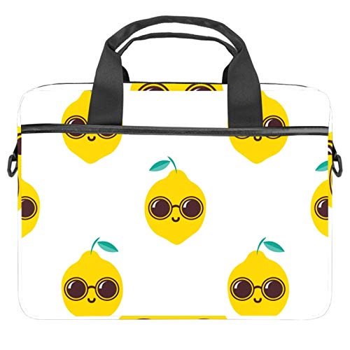 Computer Bag Suitable for MAC Computers Men and Women Handbags: 13.4 inch-14.5 inch Lightweight 15 inch Laptop Bag Business Messenger Cool Lemon with Sunglasses