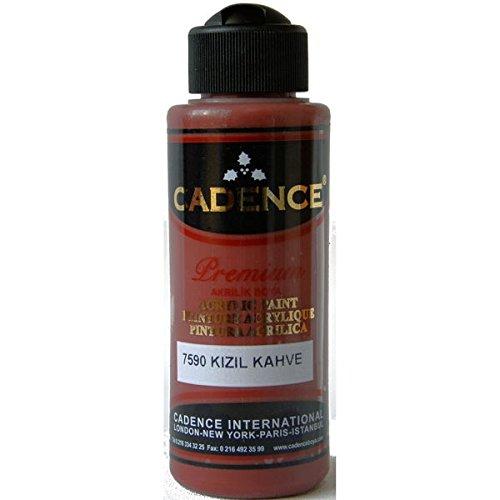 Cadence Acrylfarbe Allzweck Farbe Künstlerfarbe Premium Semi Matt Rotbraun 120ml für alle Oberflächen