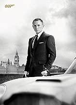 James Bond 007 Postcard - Skyfall, Daniel Craig and Aston Martin DB5 in London (6 x 4 inches)