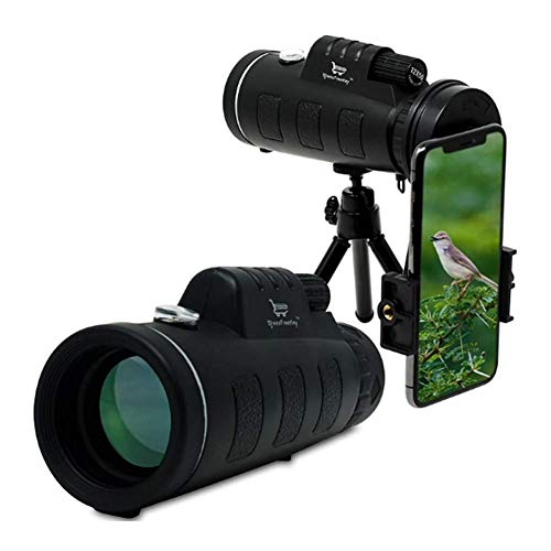 Knoijijuo Profesional 40X60 telescopio monocular telescopio terrestre con el trípode Profesional Adaptador Smartphone E monóculo para la observación de Aves