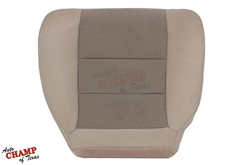 Auto Champ Of Texas - Driver Side Bottom Replacement Cloth Seat Cover, Tan (Compatible with 2003-2007 Ford F250 XLT Super-Cab X-Cab)