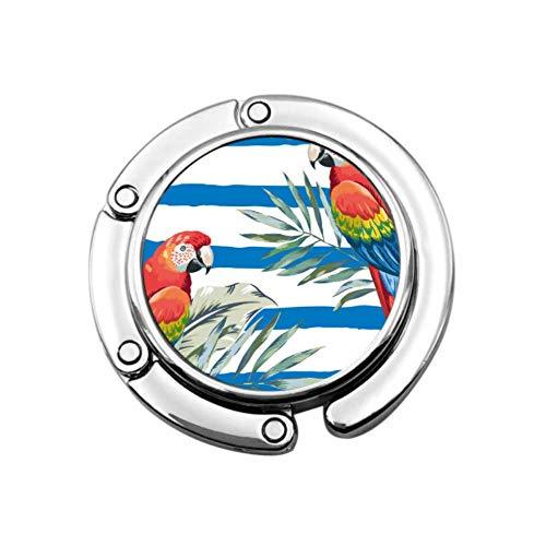 Rojo Guacamayo Loros Hojas de Palma en la Bolsa de suspensión de la Oficina Bolso de la Percha del Monedero diseños únicos sección Plegable Mesa de Almacenamiento Titular de la suspensión
