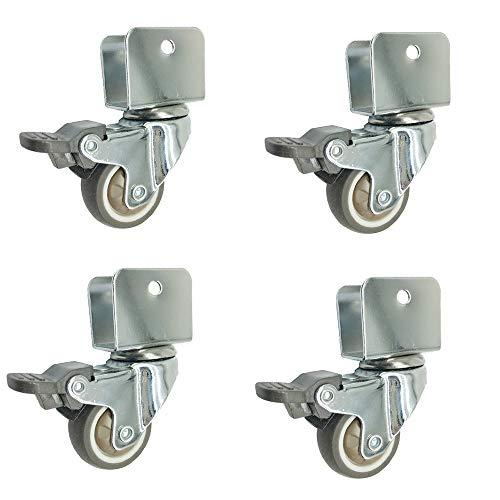 Casters 4 × Ruedas, Ruedas y Accesorios Ruedas giratorias con Frenos de Cuna de Silencio Muebles Universal