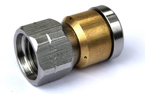 """Ugello rotante per pulizia tubo, ugello per pulizia tubi con filettatura interna 1/4"""" per Kärcher, Wap, Alto e molti altri idropulitrici"""