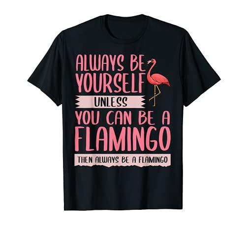 Regalo de flamenco rosa para mujeres y hombres tropicales hawaianos Camiseta