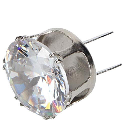 Hebilla de diamante, strass de circonita con hebilla de metal, vestidos de plata de cristal para apreciar los zapatos de decoración(Silver)
