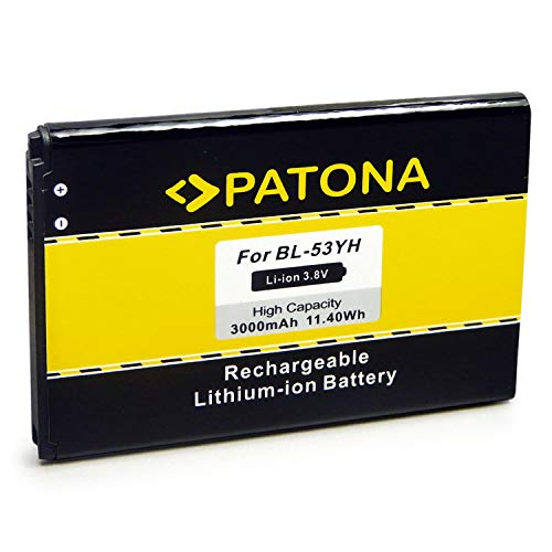 PATONA Bateria BL-53YH 3000mAh Compatible con LG D855 F400 G3