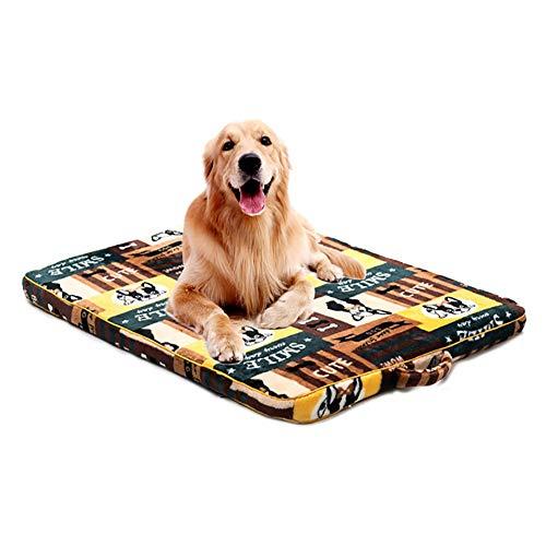 Miaosss Hondenbedden, waterdicht, flanel, warm dog pad, premium pluche, orthopedische high-bomb poten hondenbedden, antislip, wasbare matrasbeschermers, L