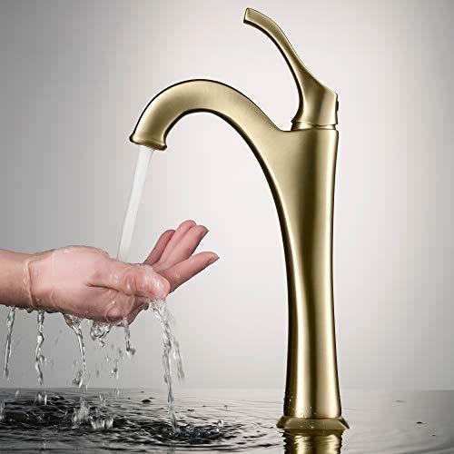 Kraus KVF-1200BG Arlo Bathroom Faucet, Brushed Gold