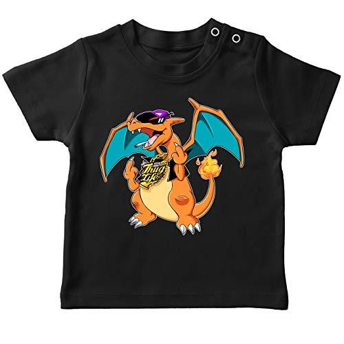Pokémon grappig zwart baby T-shirt - GLURAThug.! (Pokémon parodie) (Ref: 1029)