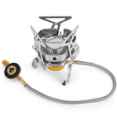 ASDMRQ estufa,Estufa portátil a prueba de viento de 3000W,con estufa de camping al aire libre ligera de ignición piezoeléctrica,Estufa de propano butano